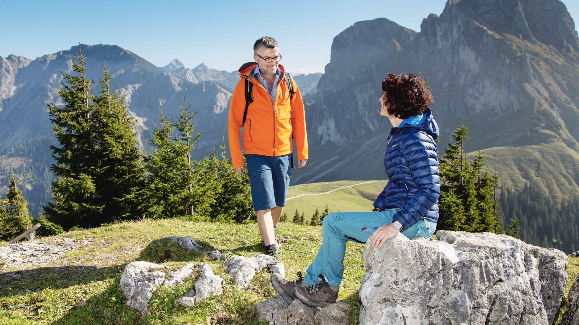 Wandern auf der Hochalpe Breitenberg